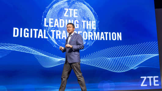 Lixin Cheng, president of ZTE USA Inc.