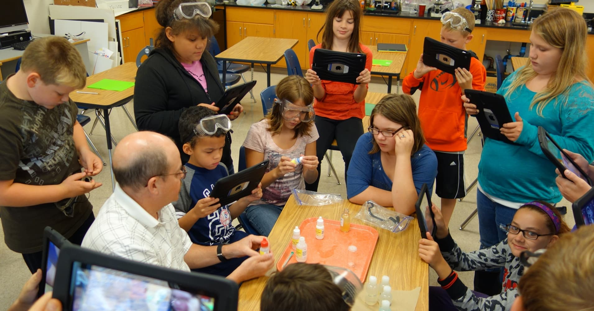 A science class in Wellsville, New York