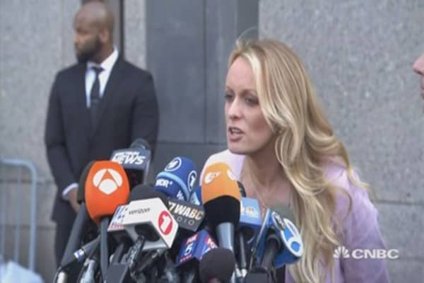 Stormy Daniels statement outside NYC courthouse