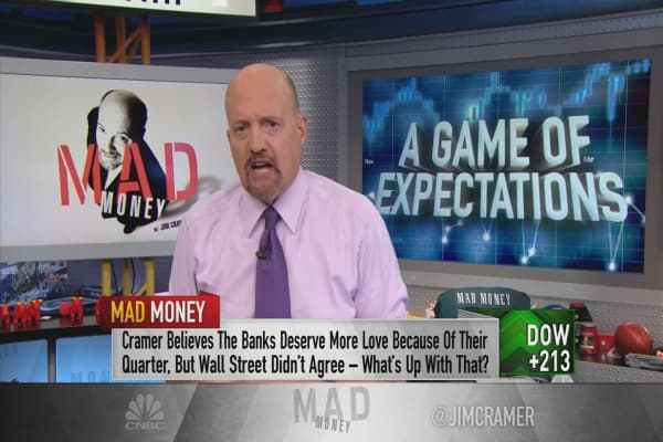 Cramer unpacks the bank stocks' weakness after strong earnings reports