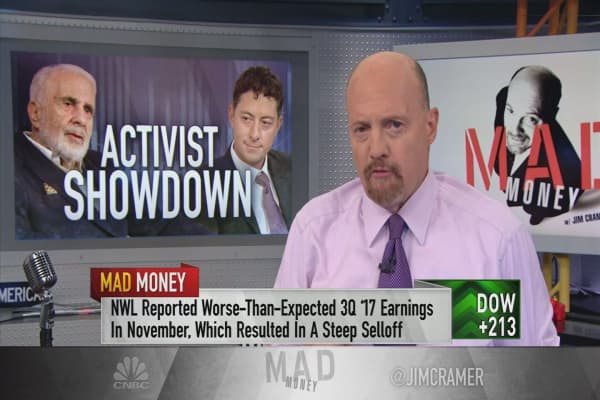 Cramer: The proxy fight in Newell Brands has very limited upside