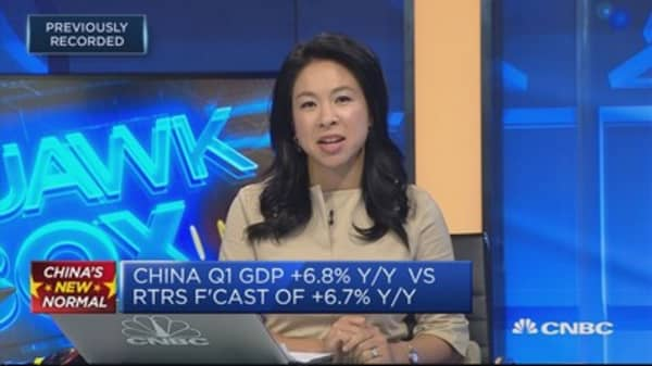 Chinese economy grew 6.8 percent in the first quarter