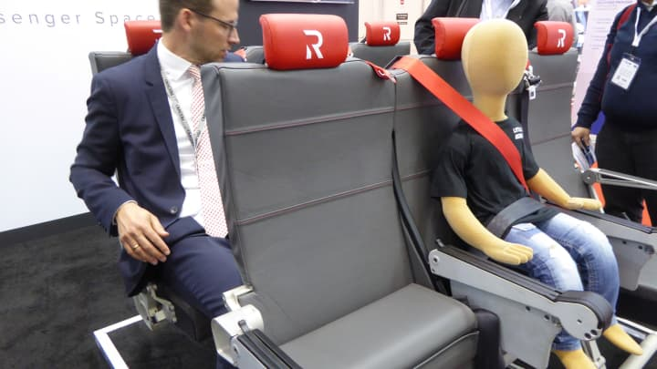 Rebel Aero's booster seat for airplanes.