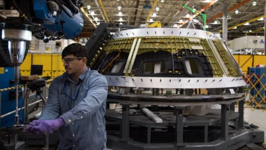 Manufacture of Nasa's new Orion spacecraft