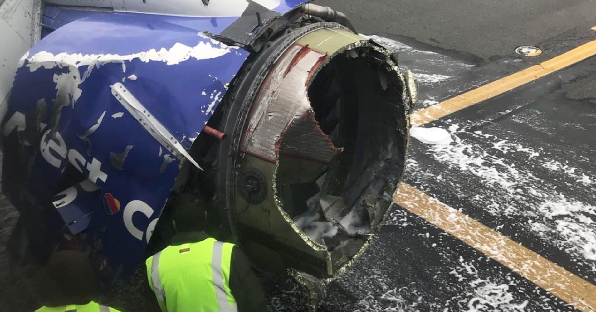 Blown Southwest jet engine showed 'metal fatigue: NTSB