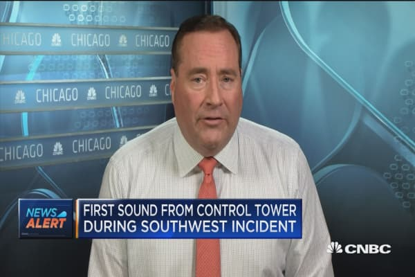 First sound from control tower during Southwest incident