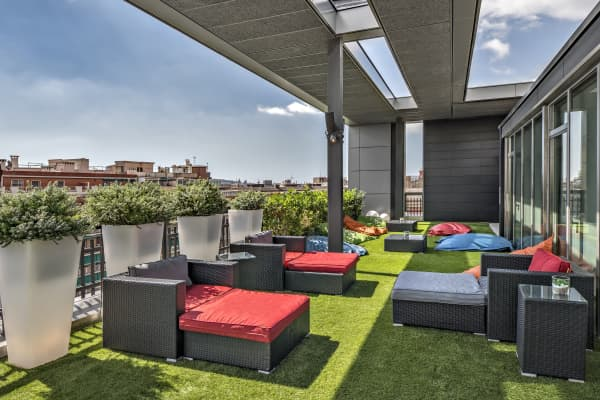 Inside King's Barcelona offices: A breath of fresh air anyone? Step out onto the King Terrace