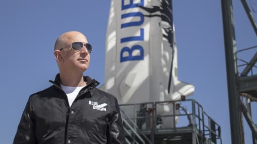 Jeff Bezos, founder of Blue Origin, is developing the New Glenn rocket to compete with SpaceX.