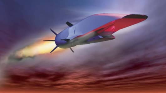 A rendering of a hypersonic prototype.