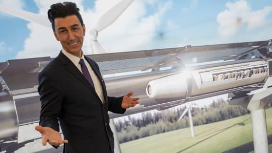 Bibop Gresta, chairman of Hyperloop Transportation Technologies.