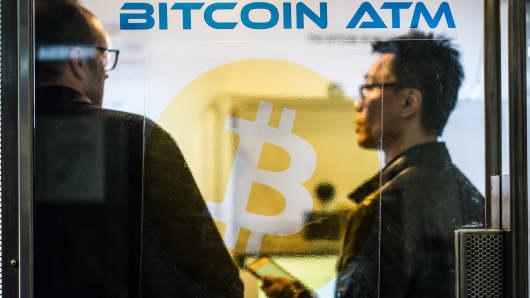 A Bitcoin ATM in Hong Kong.