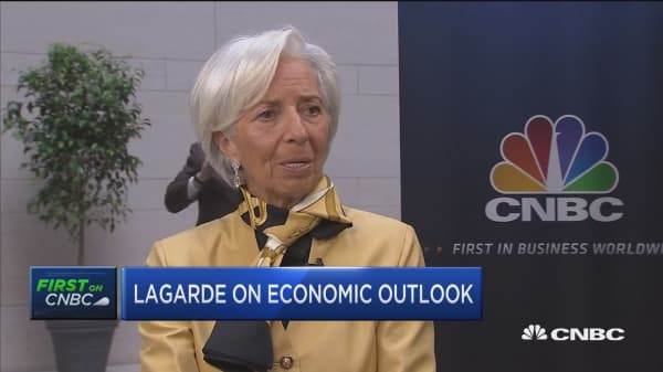IMF's Lagarde on global growth, trade wars and looming deficits