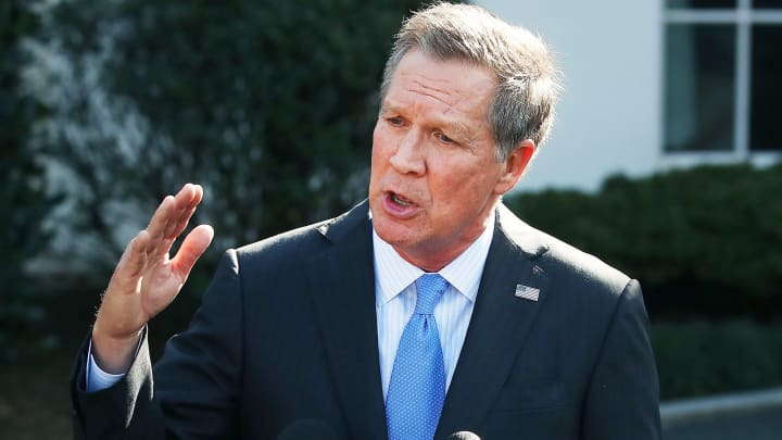 Republican John Kasich, undecided on a 2020 run for the White House, takes aim at Trump's foreign policy