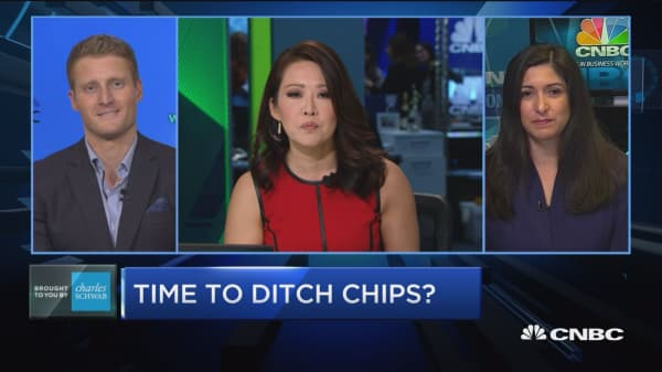 Chip stocks getting slammed on pace for worst day since 2016