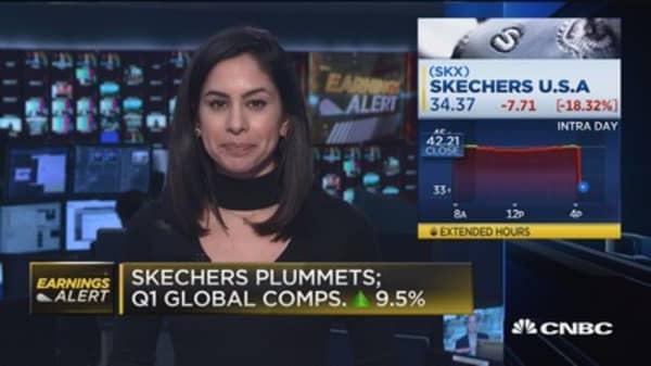 Skechers plunges on weak Q2 EPS guidance