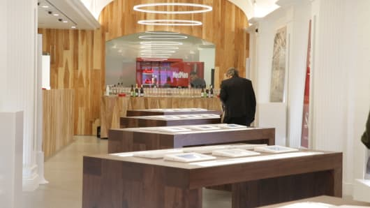 Photos of MedMen's new medical dispensary on 5th Avenue in New York City.