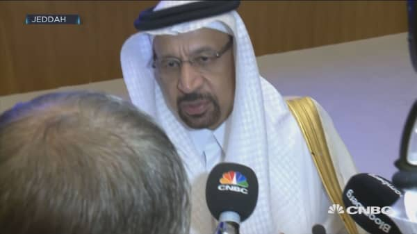 Inventories have declined from the peak, Saudi oil minister says