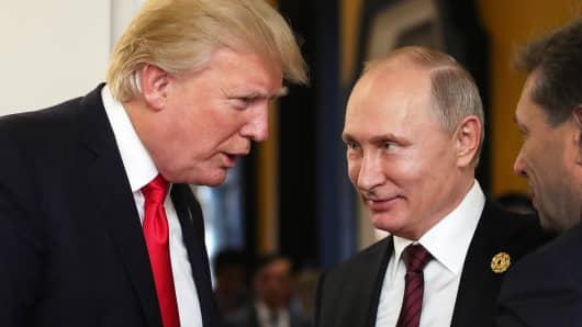 President Donald Trump and Russia's president Vladimir Putin