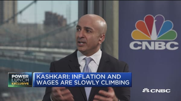 Neel Kashkari: Flattening yield curve shows a 'sign of caution'