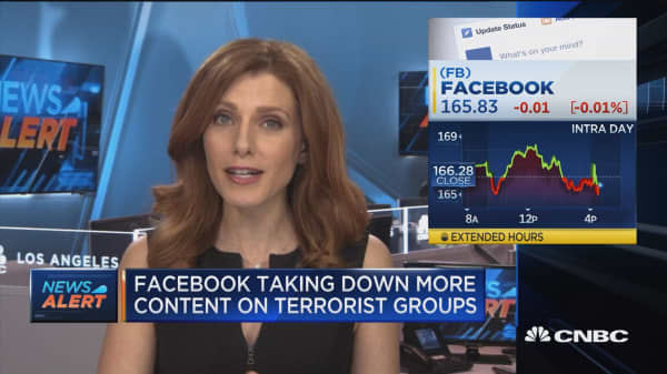 Facebook taking down more content on terrorist groups