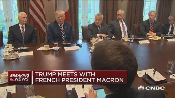 Trump: Could have an agreement soon on Iran with Macron