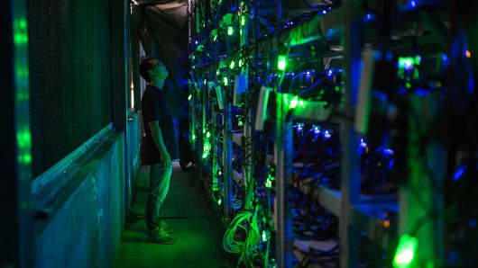 A bitcoin mine near Kongyuxiang, Sichuan, China on August 12, 2016.