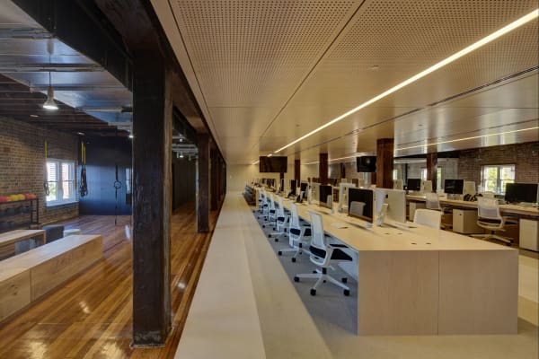 Ansarada's 8,460 square feet office is situated in The Rocks, Sydney, Australia