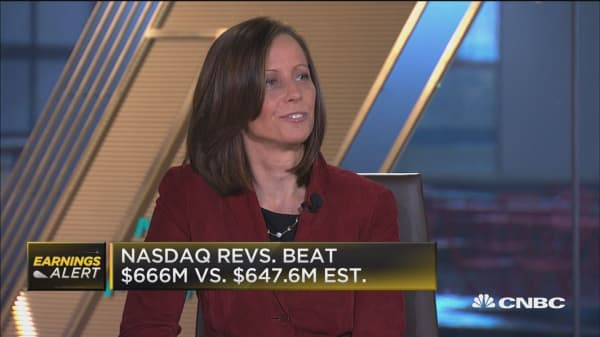 Nasdaq CEO: Seeing revenue growth across the entire business