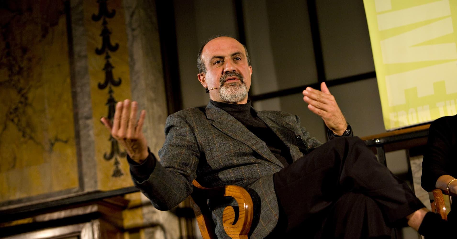 "Nassim Nicholas Taleb, author of ""The Black Swan"""