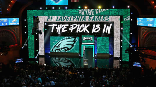 The 2016 NFL Draft at the Auditorium Theater on April 28, 2016 in Chicago, Illinois.