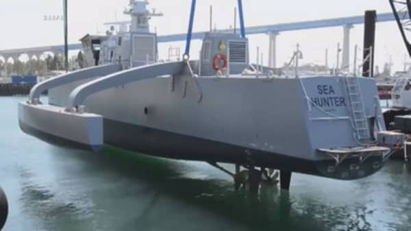 First drone warship joins US Navy