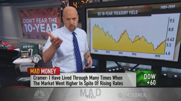 Cramer: Don't panic over the rising 10-year Treasury yield