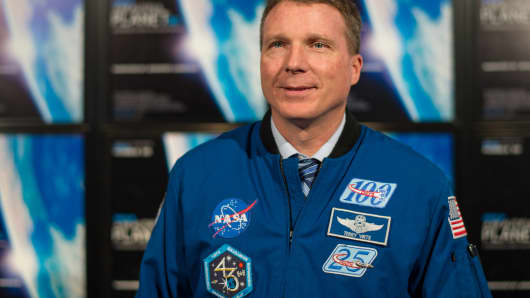 NASA astronaut Terry Virts attends an event at the Smithsonian National Air and Space Museum in Washington, DC.