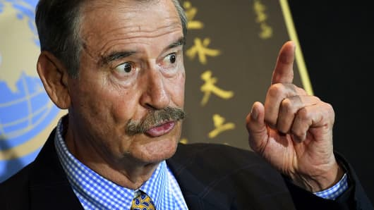 Former Mexican president Vincente Fox
