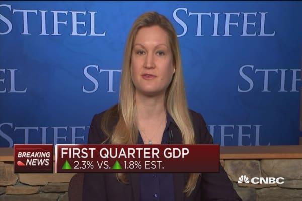 Q1 GDP doesn't change US economic 'storyline,' says economist