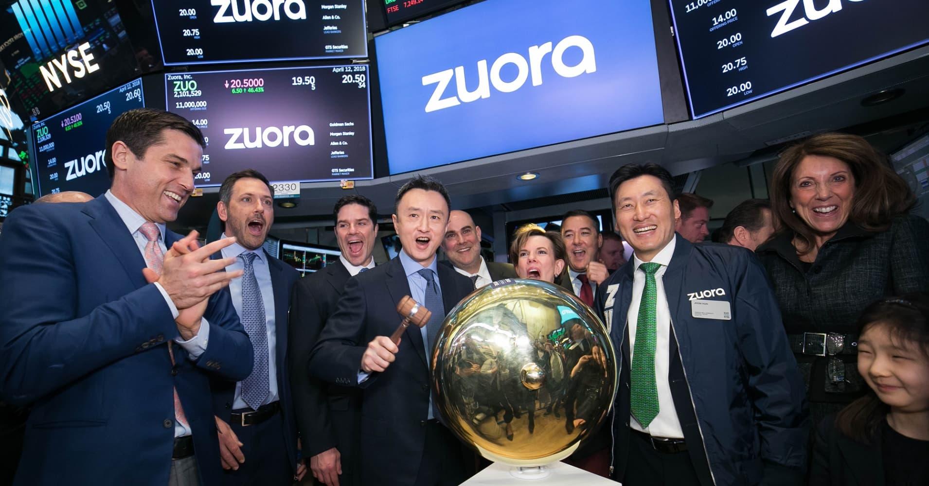 Zuora IPO on NYSE.