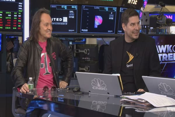 T-Mobile and Sprint CEOs on mega merger