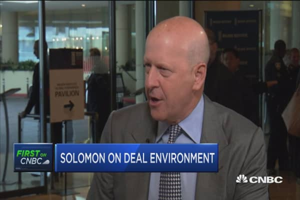 CEO confidence is relatively high, says Goldman's Solomon