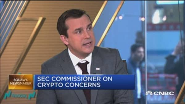 SEC is cautiously open to initial coin offerings, commissioner says