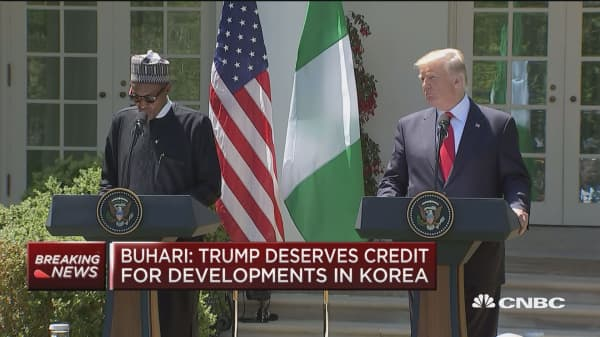 Nigerian President Buhari: We welcome increased US investment in the Nigerian economy