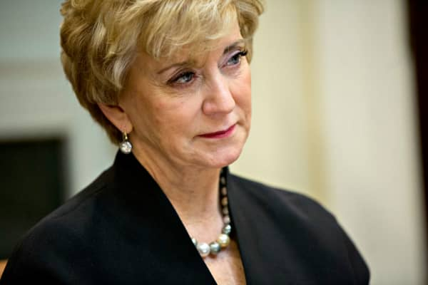 Linda McMahon, administrator of the Small Business Administration (SBA)