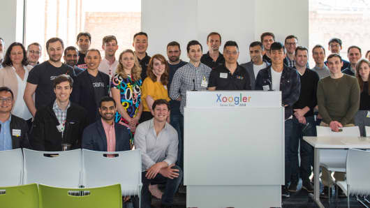 Startups came from around the country (and some flew in from Europe and Asia) to participate in the demo day.