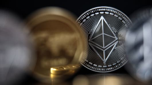 An ethereum cryptocurrency 'altcoin'.