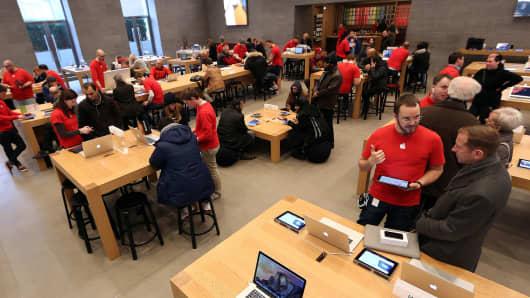 Apple employees in Berlin.