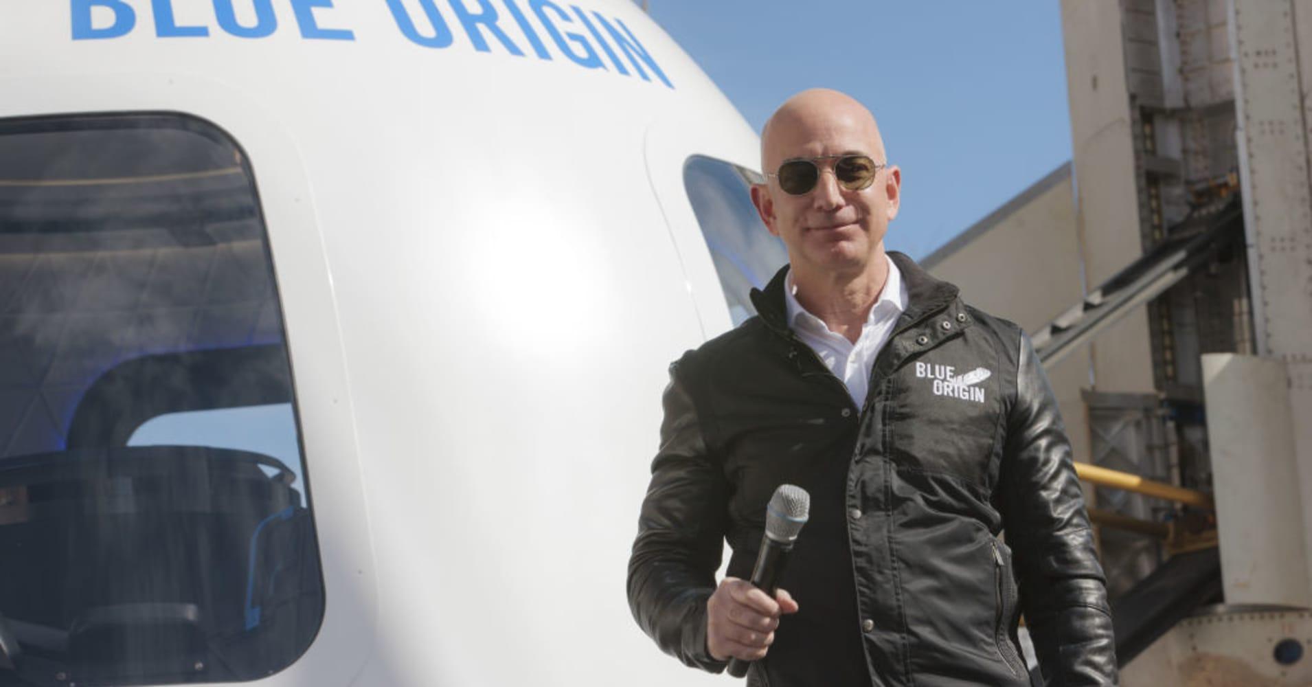 Amazon and Blue Origin boss Jeff Bezos.