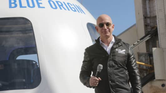Amazon and Blue Origin boss Jeff Bezos