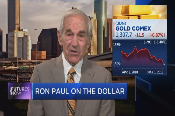 Ron Paul warns stocks 'destined to go down' as much as 50 percent