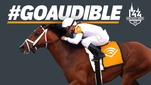 Audible the horse will be decorated with Audible audio books logos at the 2018 Kentucky Derby