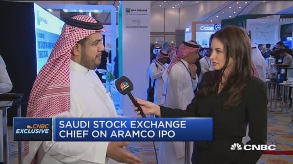 Saudi exchange welcomes Aramco IPO, says CEO