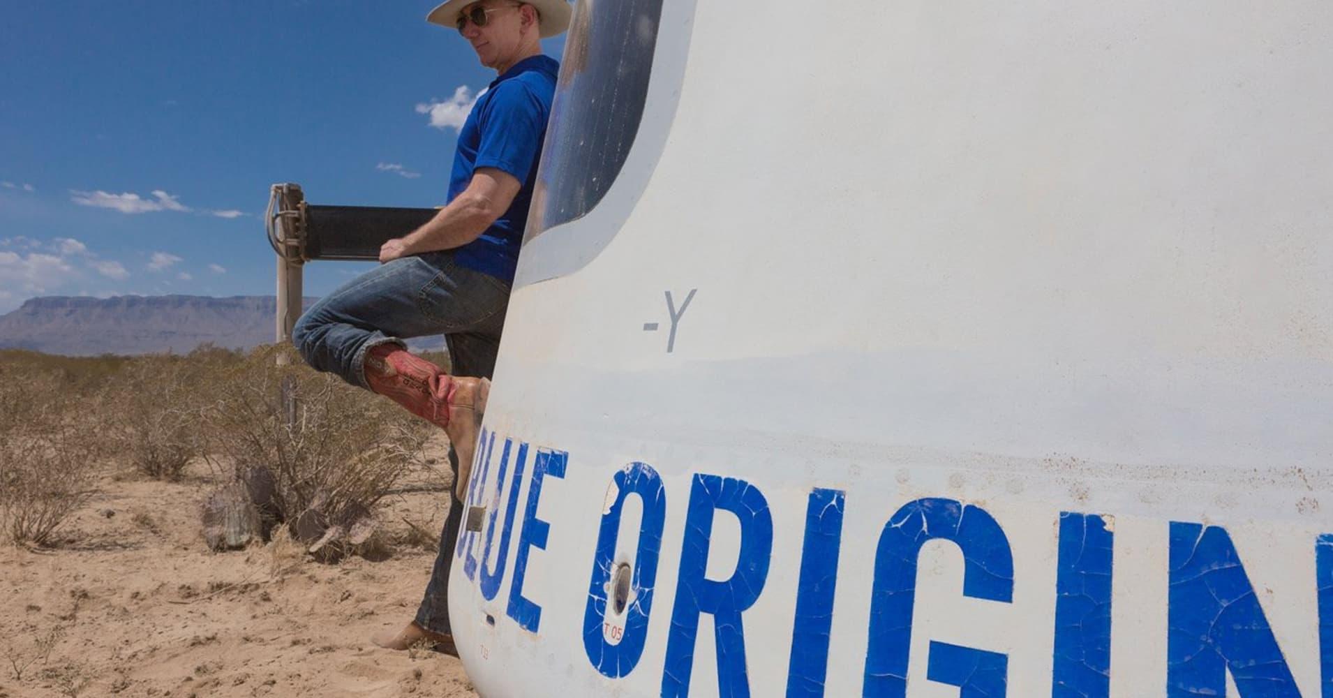 Jeff Bezos Has Blue Origin S Motto On His Lucky Cowboy Boots